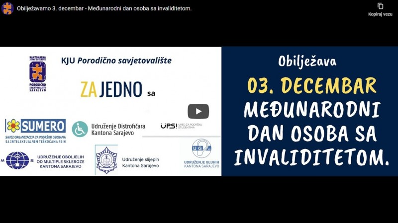 Video povodom 3. decembra 2020. godine