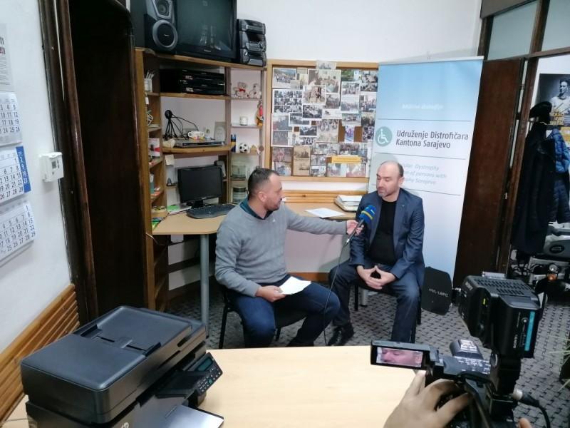 Gostovanje Izvršnog direktora Udruženja distrofičara KS u emisiji Jutro za sve BHRT-a, 27.01.2020. godine