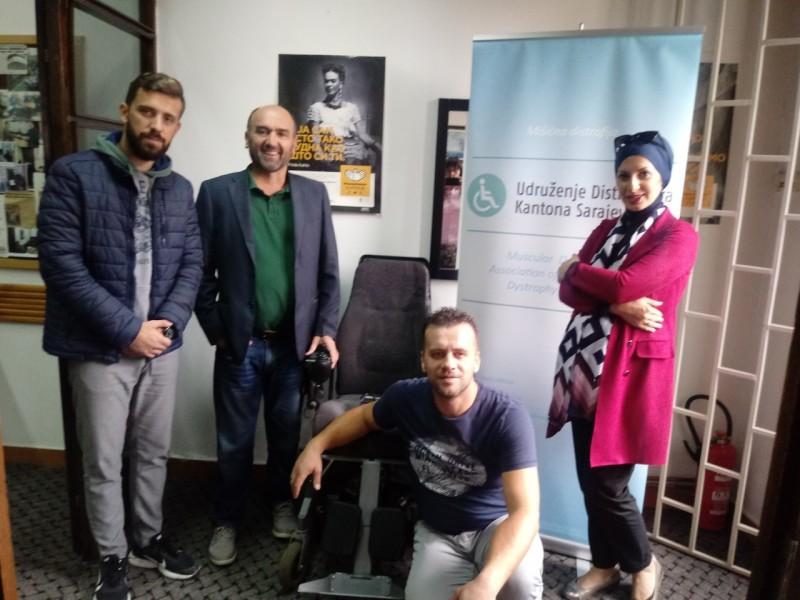 Predstavnici Općine Novi Grad posjetili Udruženje distrofičara KS
